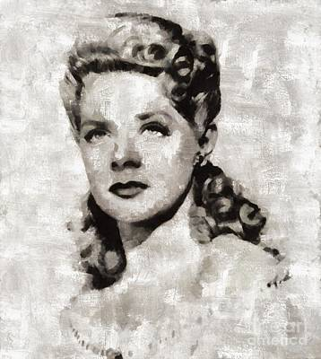 Elvis Presley Painting - Alice Faye, Actress by Mary Bassett