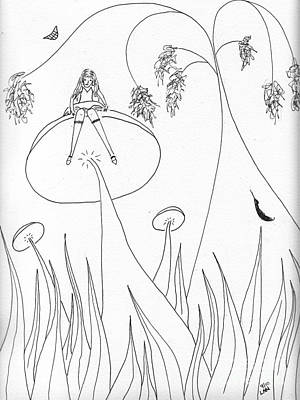 Drawing - Alice In The Wonderland Of Boranup Forest by Leonie Higgins Noone