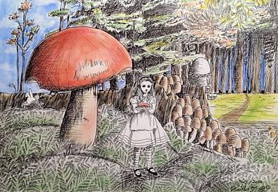 Alice In Wonderland 2 Art Print by Keiko Olds