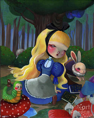 Painting - Alice In Wonderland by Akiko Okabe