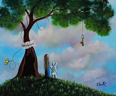 Alice In Wonderland Art Print by Shawna Erback