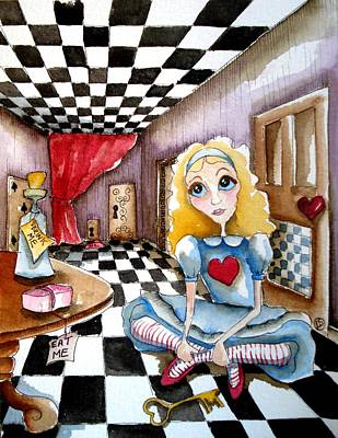 Alice In Wonderland The Key Original by Lucia Stewart
