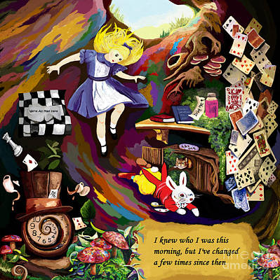 Alice Is Changing Art Print by Jackie Case