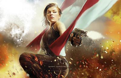 Resident Evil Digital Art - Alice by Jason Longstreet