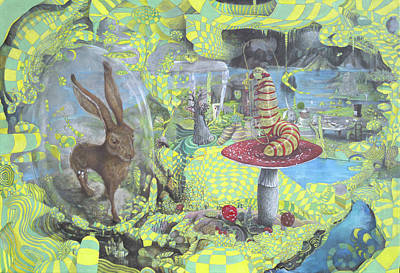 March Hare Painting - Alice by John Anthony Edginton