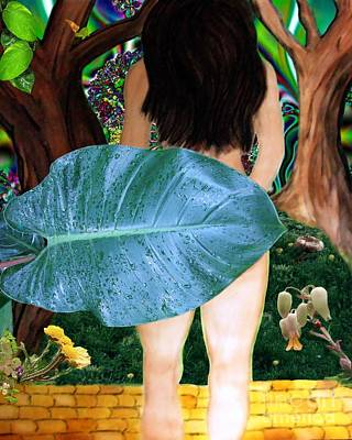 Art Print featuring the digital art Alice Leaves Oz by Misha Bean