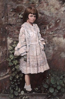 Wall Art - Painting - Alice Liddell Portrait by Terry Guyer
