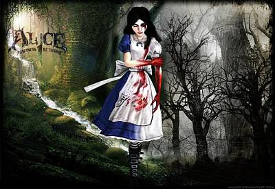 Portrait Digital Art - Alice Madness Returns by Maye Loeser
