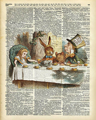 Tea Party Drawing - Alice Morning Tea Time by Jacob Kuch