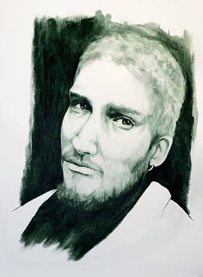 Painting - Alice N Chains - Layne Staley by William Walts