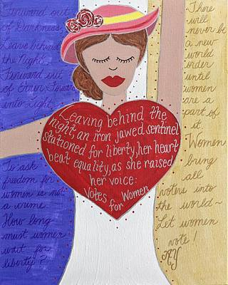 Painting - Alice Paul by Angela Yarber