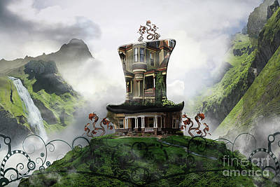 Alice Through Looking Glass Hatter House Art Print by Tricia CastlesNcrowns