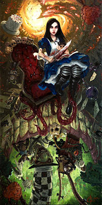 Alice In Wonderland Artist Painting - Alice Through The Looking Glass by Christopher Clark