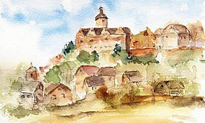 Painting - Alice's Castle by Anne Duke