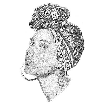 Hop Drawing - Alicia Keys by Marcus Price