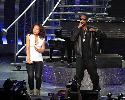Jay Z Photograph - Alicia Keys With Jay-z by Steven Sachs