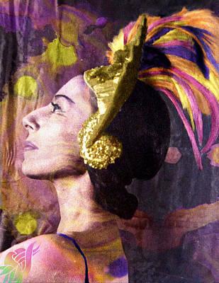 Photograph - Alicia Markova Firebird Colorized by Robert G Kernodle