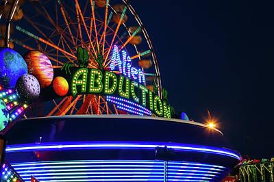 Photograph - Alien Abduction Carnival Ride by Steven Bateson