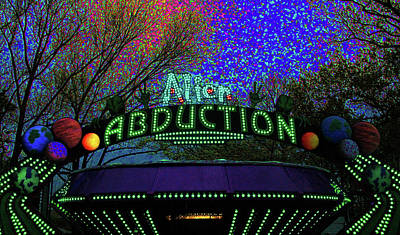 Peacock Feathers - Alien Abduction by Susan Hendrich