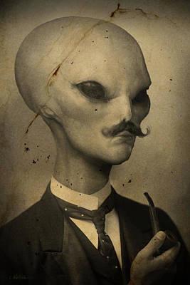 I Want To Believe Digital Art - Alien by Alex Johnson