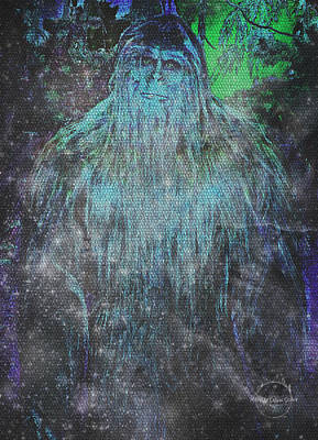 Digital Art - Alien Bigfoot by Absinthe Art By Michelle LeAnn Scott
