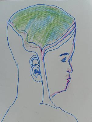 Drawing - Alien Bob by Judith Redman