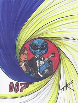 Drawing - alien Bond by Similar Alien