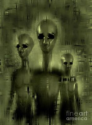 Science Fiction Royalty-Free and Rights-Managed Images - Alien Brothers by Raphael Terra