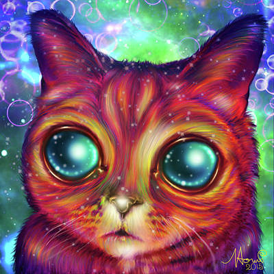 Alien Cat Matilda Art Print