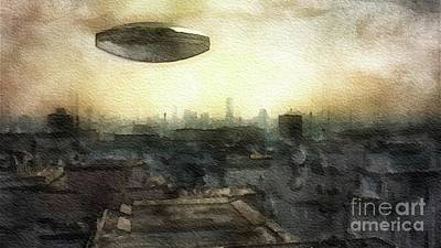 Science Fiction Royalty-Free and Rights-Managed Images - Alien Dawn by Raphael Terra