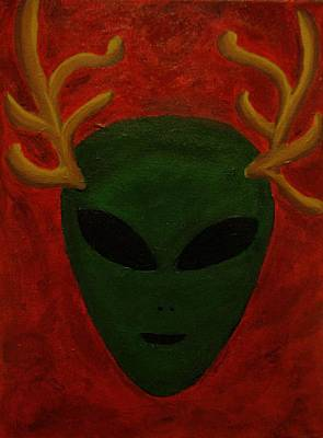 Painting - Alien Deer by Lola Connelly