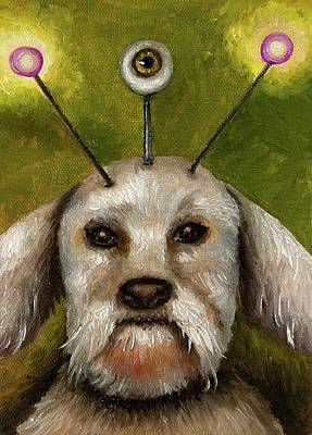 Alien Dog Art Print by Leah Saulnier The Painting Maniac
