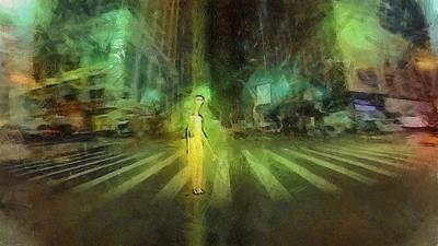 Alien Downtown Art Print