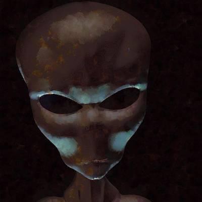 Alien Facetime Art Print
