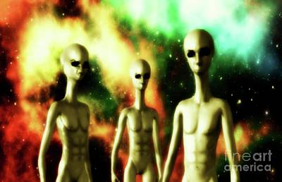 Science Fiction Royalty-Free and Rights-Managed Images - Alien Gods by Raphael Terra