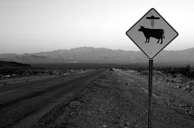 Open Range Photograph - Alien Highway by David Lee Thompson