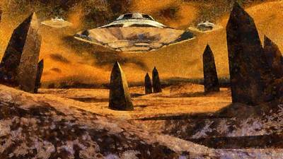 Alien Homeland By Raphael Terra Art Print by Raphael Terra
