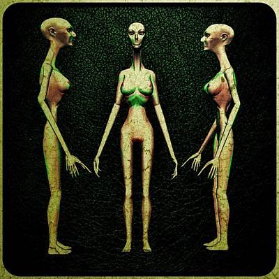 Alien Hybrid Woman Art Print by Raphael Terra
