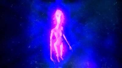 Alien In Space Art Print