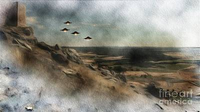 Science Fiction Royalty-Free and Rights-Managed Images - Alien Invasion Force by Raphael Terra