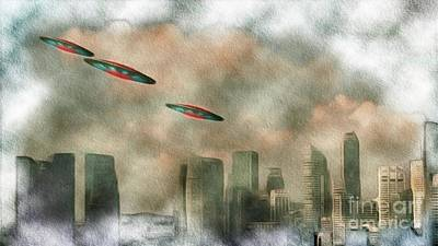 Science Fiction Paintings - Alien Invasion by Raphael Terra