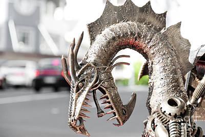 Alien Invasion.dragon. Art Print by Yurix Sardinelly