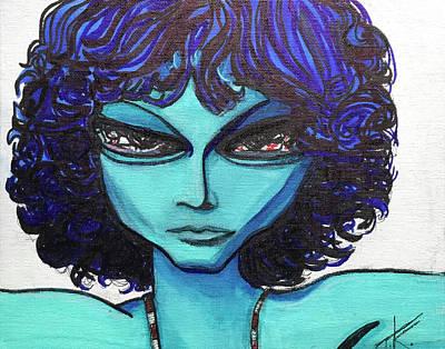 Painting - Alien Jim Morrison by Similar Alien