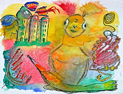 Inner Child Painting - Alien Lady  by Dagmar Batyahav