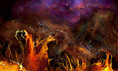 Alien Landscape Original by Hans Neuhart