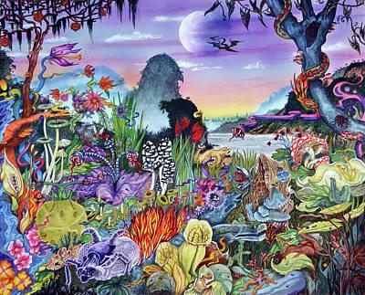 Painting - Alien Landscape by Liz Baker