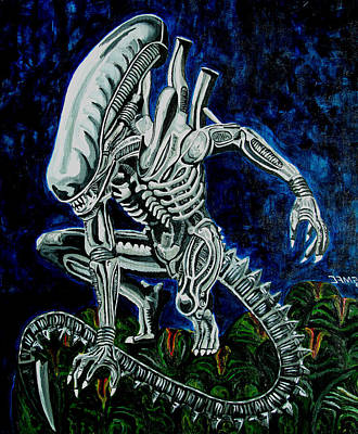 Xenomorph Painting - Alien Legacy by Jose Mendez