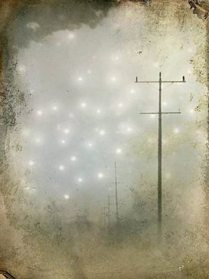 Telephone Poles Digital Art - Alien Night by Gothicrow Images