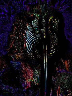 Painting - Alien Portrait by Natalie Holland
