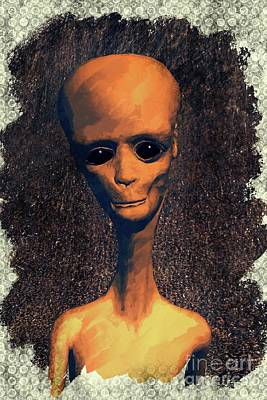 Science Fiction Royalty-Free and Rights-Managed Images - Alien Portrait by Raphael Terra